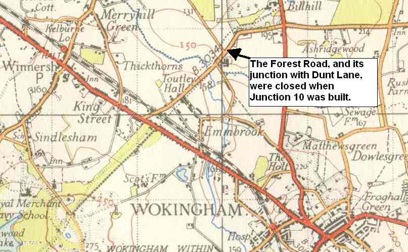 "Forest Road, from an Ordnance Survey 1"" map of the early 1950s"