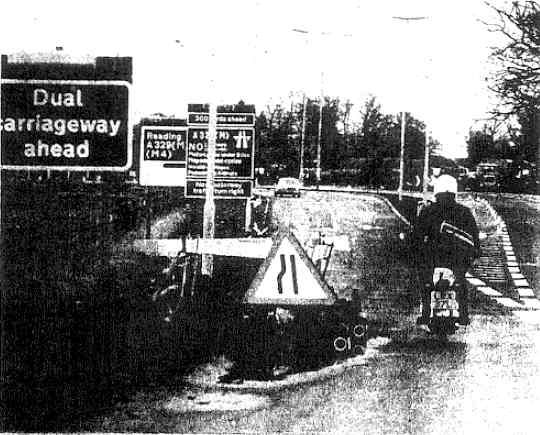 View from the A321 towards what is now known as Junction 10 - WT