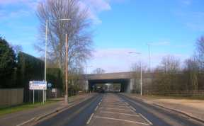 A329 Reading Road, Winnersh, south of the M4 bridge
